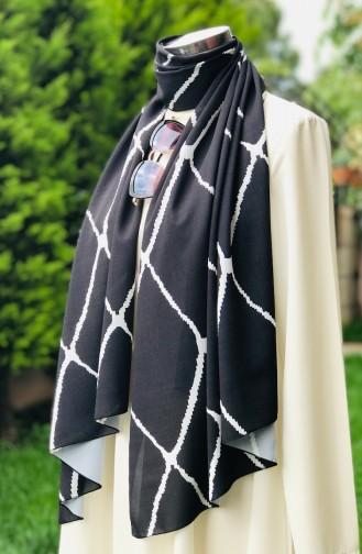 Patterned Rayon Shawl 51999-01 Black 51999-01