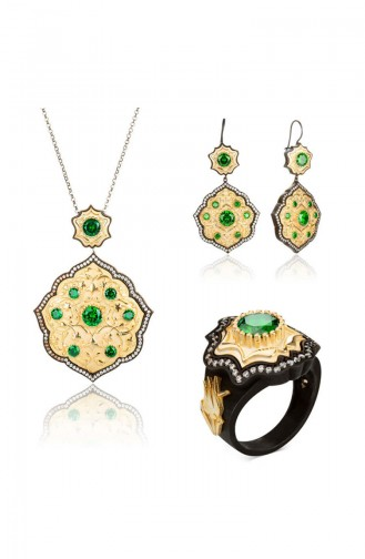Ensemble de bijoux Sultane Bidar Série Payitaht Abdülhamid PAYİTAHT-023 023