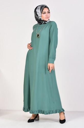 Robe Hijab Vert noisette 1202-04