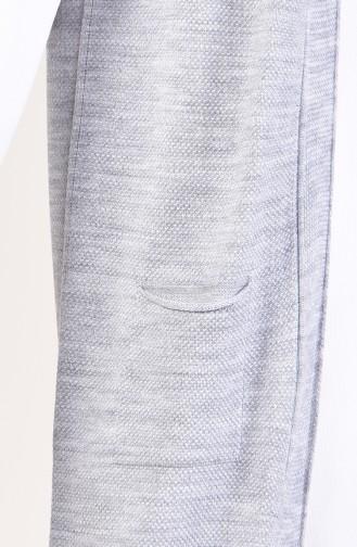 Knitwear Pocket Vest 4116-24 light Gray 4116-24