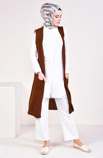 Knitwear Pocket Vest 4116-25 Tile 4116-25