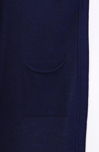 Slim Fit Knitwear Pocket Vest 4120-28 Navy 4120-28