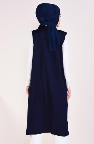 Slim Fit Knitwear Pocket Vest 4128-35 light Navy 4128-35