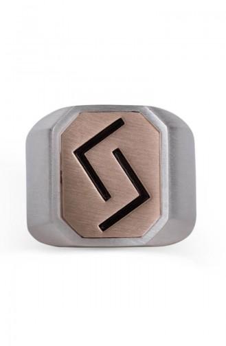 Çift Taraflı Çukur Karakuzular Yüzüğü CUKUR-005 Gümüş Bronz