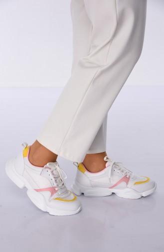 75b318714df91 Sefamerve, Women´s Sports Shoes 5053K-01 White Yellow Pink