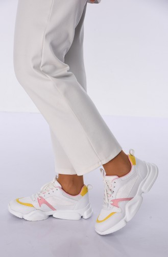 Yellow Sport Shoes 5053K-01