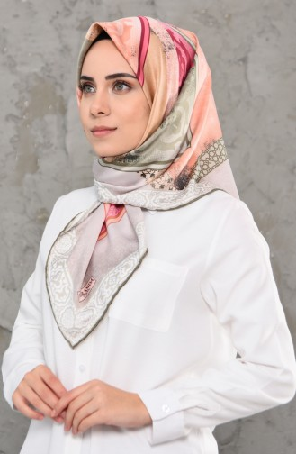 Patterned Rayon Scarf 2235-07 light Khaki 2235-07