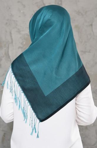 Doppelseitiger Schal mit Quaste 2237-30 Mandelgrün 2237-30