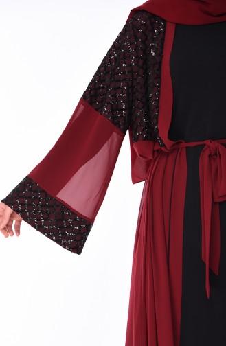 Claret red Abaya 52750-05