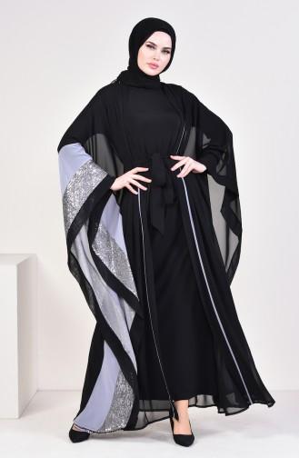 Gray Abaya 52753-01
