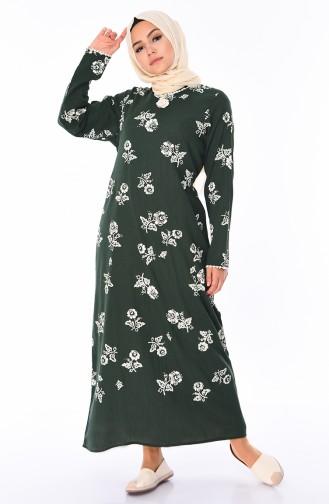 Dark Green Dress 0450-06