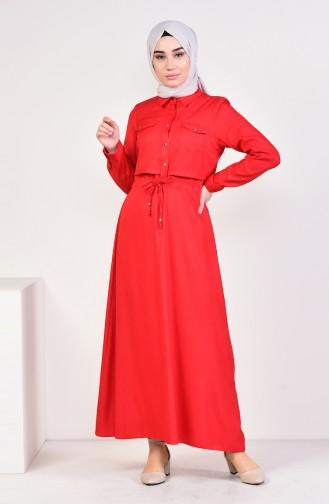 6aebf4a9e3e20 Kırmızı Tesettür Elbise Modelleri ve Fiyatları - Tesettür Giyim ...