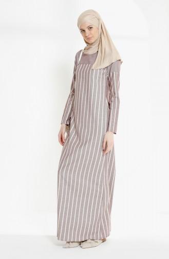 Weinrot Hijap Kleider 5009-01