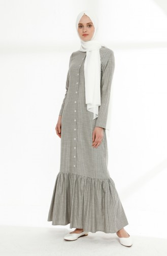 Khaki Hijap Kleider 5049-08