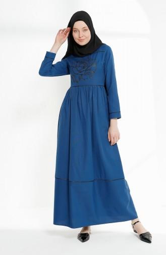 Robe Hijab Indigo 9020-08