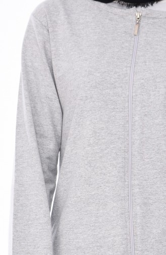 Zippered Tracksuit 10100A-03 Gray 10100A-03