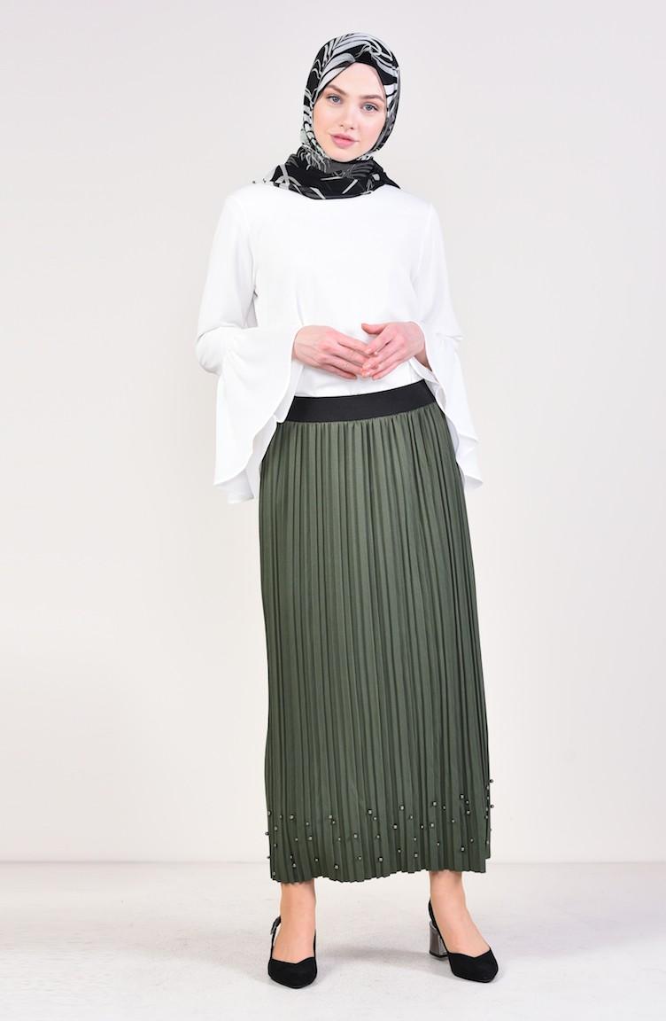 e7ae13b4d Light Khaki Green Skirt 5026-14 ...