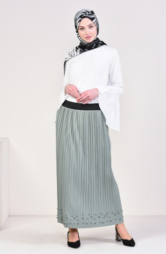 Pleated Skirt  5026-15 Water Green 5026-15
