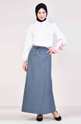 Elastic Waist Skirt 1025-11 Mold Blue 1125A-02