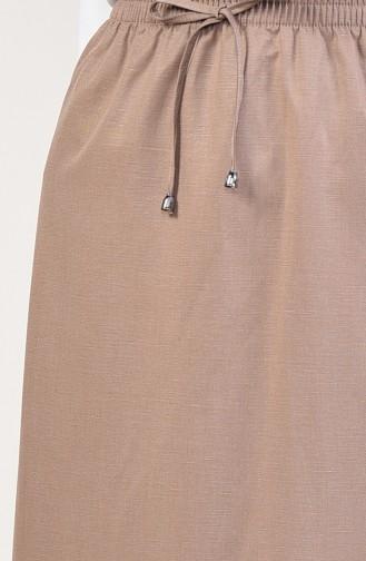 Elastic Waist Skirt  1125C-01 Mink 1125C-01