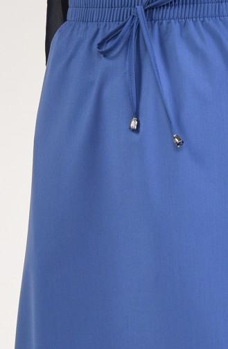 Elastic Waist Skirt 1125D-01 Indigo 1125D-01