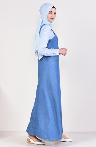 Salopet Jile Elbise 9268-01 Kot Mavi 9268-01