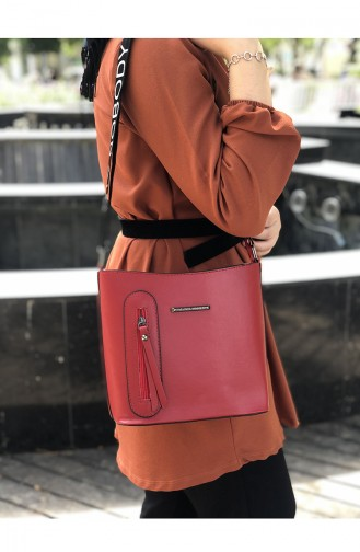 Red Shoulder Bag 11-02