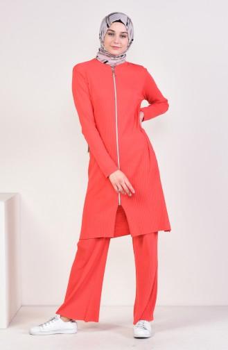 Cardigan Pants Double Suit 3300-22 Pomegranate flower 3300-22