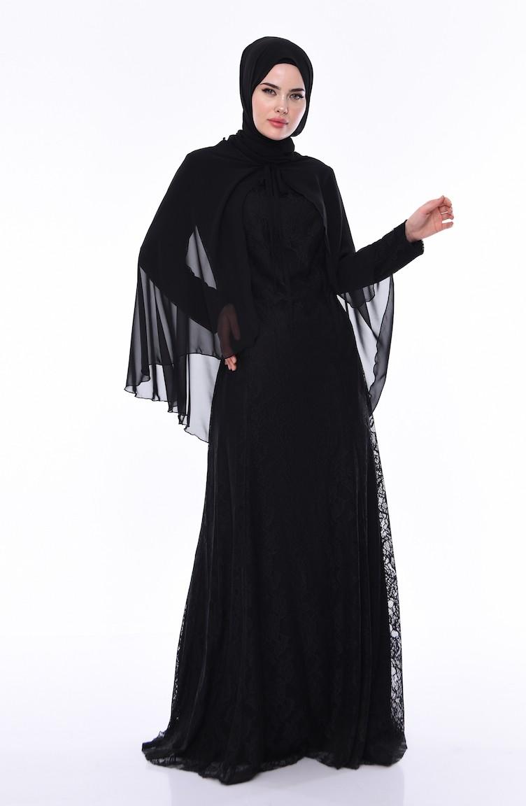 c3ae05a9019c0 Black Islamic Clothing Evening Dress 830141-01
