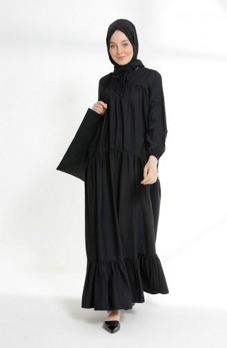 Robe Froncée 7268-16 Noir 7268-16