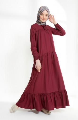 Ruched Dress 7268-08 Damson 7268-08