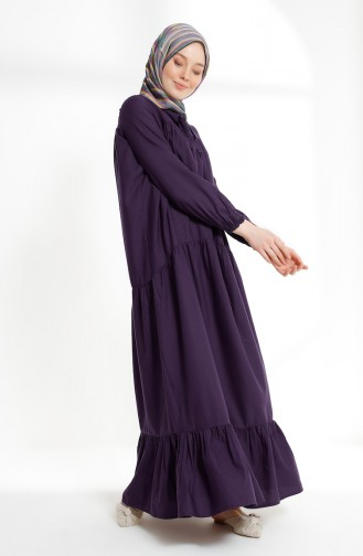 Ruched Dress 7268-05 Purple 7268-05