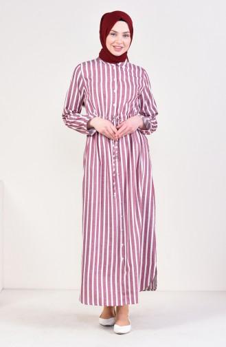 Robe à Rayures 6031-02 Bordeaux 6031-02