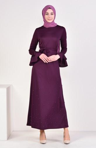 Plum Hijab Dress 4028-02