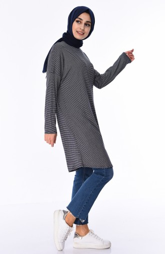 Striped Tunic 9081-01 Navy 9081-01
