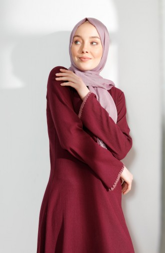 Embroidery Detail Sile Cloth Tunic 9019-01 Plum 9019-01