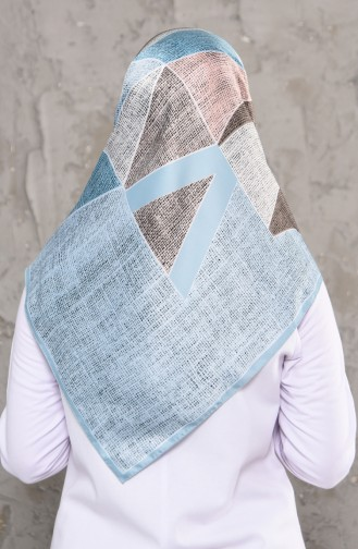 Karaca Pattern Rayon Scarf 90579-09 Turquoise 90579-09