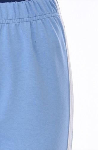 Beli Lastikli Eşofman 18006A-06 Mavi