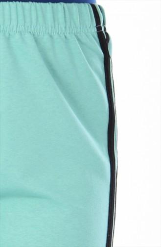 بدلة رياضية بتصميم مطاط عند الخصر 18006A-10 لون اخضر فاتح 18006A-10