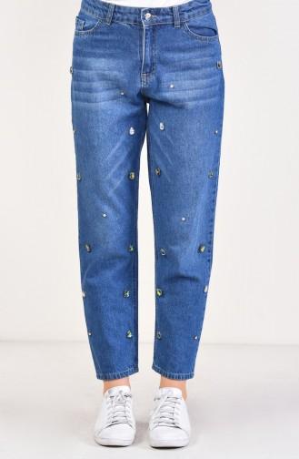 Stony Denim Trousers 2563-01 Navy Blue 2563-01