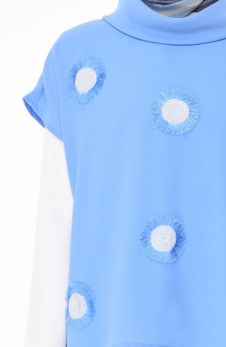 sequined 3 Pisces Suit 0101-03 Blue 0101-03