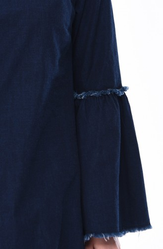 Dark Navy Blue Tuniek 4067-03