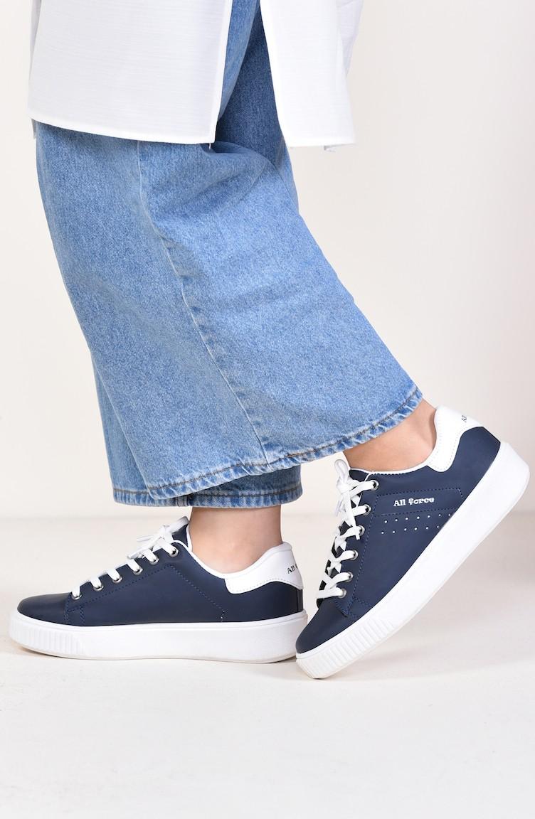 f43552e616002 Navy Blue Sport Shoes 0778-09