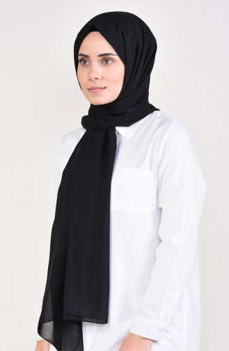 Plain Chiffon Shawl  901479-03 Black 901479-03