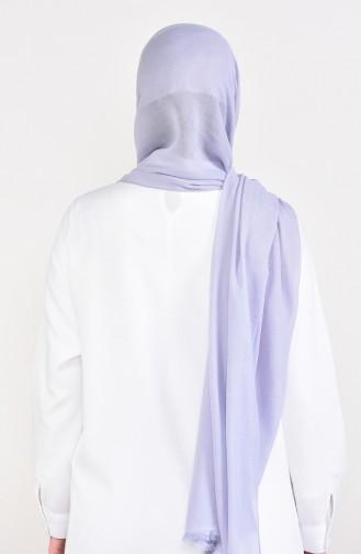 شال قماش الجوسامير بتصميم لامع 60084-10 لون رمادي 60084-10