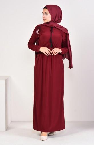 Robe Sandy Brodée 4122-01 Bordeaux 4122-01