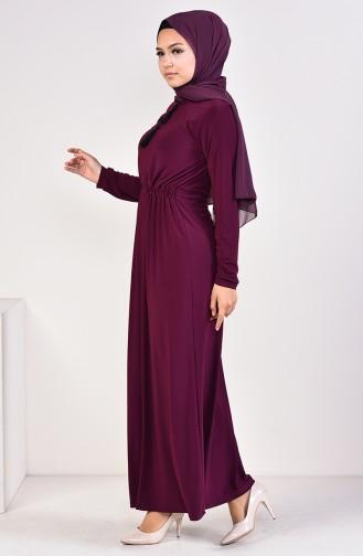 Embroidered Sandy Dress 4122-02 Purple 4122-02