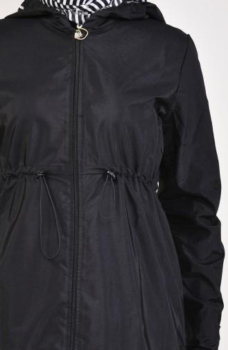معطف واق من المطر أسود 6762-01