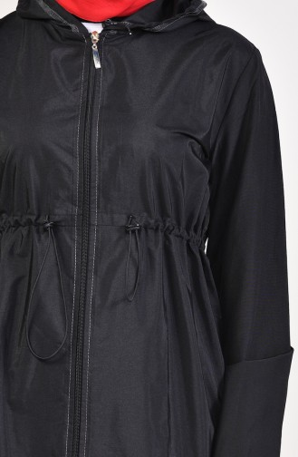معطف واق من المطر أسود 68051-01