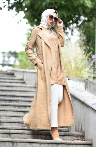 Camel Trench Coats Models 6822-04